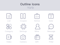 Freebie - Outline icons