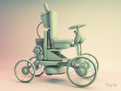 Steampunk Car c4d,grayscale tires,vehicle eye candy,retrospective cinema 4d metro model 3d