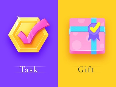 Two task icons