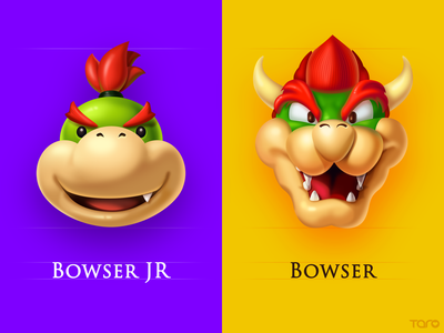 Mario Character Card3 bowser sticker mario illustration icon game emoticon emoji character carton adventure