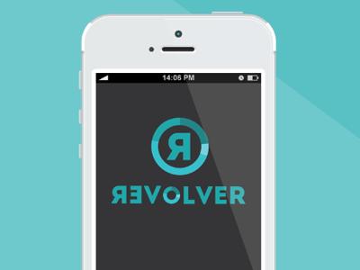 Revolver logo app technology blue teal mobile agency palette