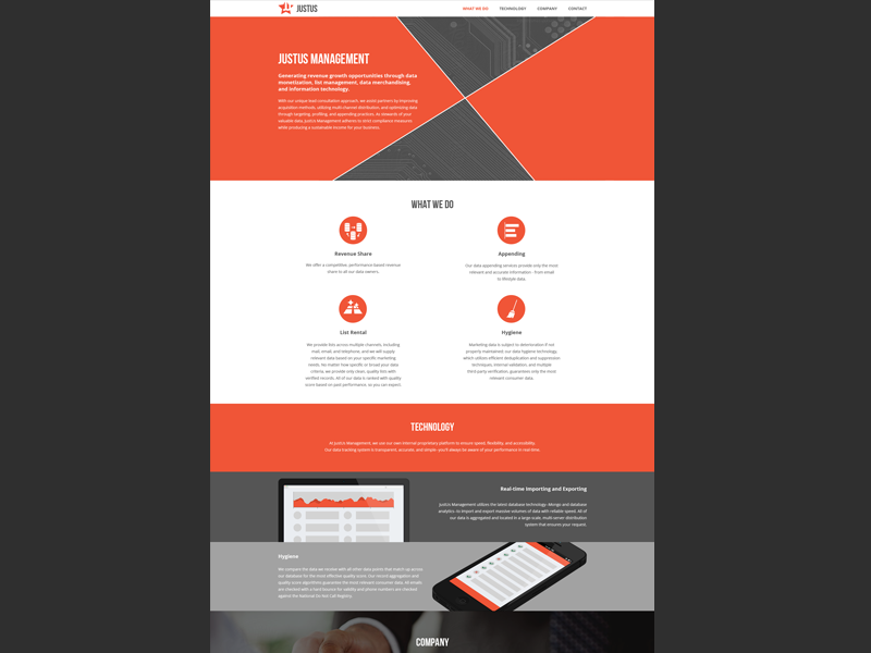 JustUs web web design ui site flat agency