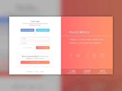 music4box - Singup Concept