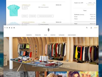Pena E-Commerce Redesign