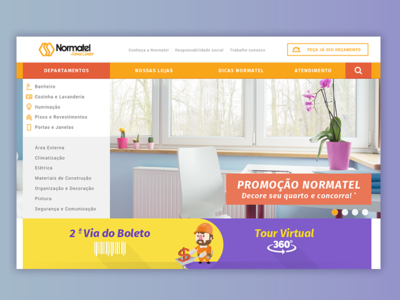 Normatel Home Center - Home Header