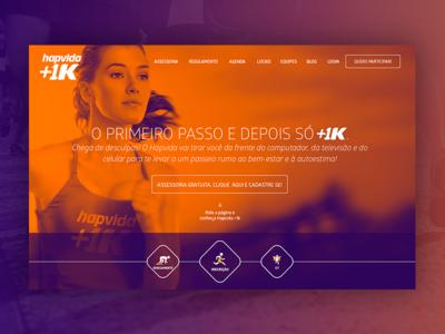 Hotsite Hapvida +1K Hero