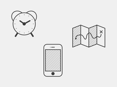Daysmiths Icons icon icons phone map clock city daysmiths
