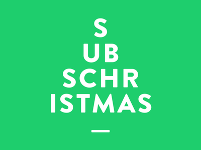 Subschristmas christmas gocardless website subscription graphic logo type