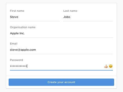 GoCardless Password Strength-O-Meter (gif) dashboard ui input material form emoji security password signup gocardless