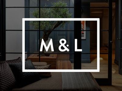 Logo design brandon wordmark and ampersand dot property icon logo