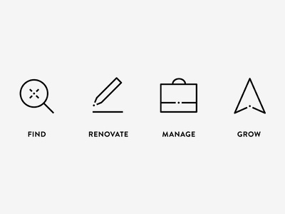 Property development icons service dot icon development property
