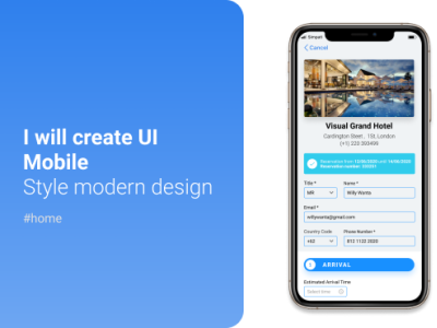 UI Design for Pre check-in hotel precheckin mobile design uidesign landing inspiration ux designer web ux ui design ui design