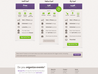 Pricing Page pricing table st-ryde markerfield button pictos icon