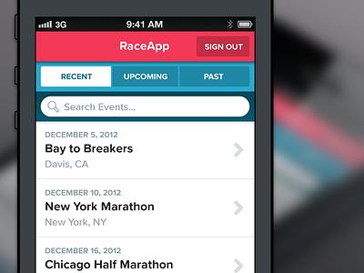 Flat Style proxima nova soft search tab button list iphone