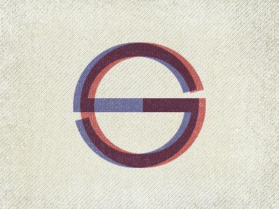 Initials initials logo personal retro typography