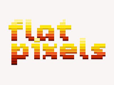 Flat Pixels pixels essay title pixel font bitmap font