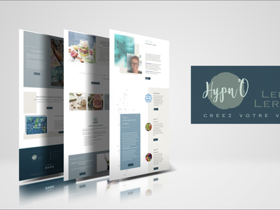Identité visuelle & création site web creation palette branding logo clean website design webdesign freelance design