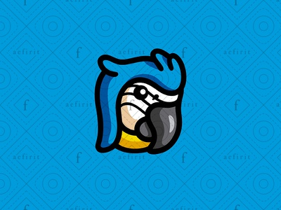 Square Macaw Logo for sale branding refuge simple cmyk painting ink color creative modern logo eco mascot media printing square colorful bird parrot macaw