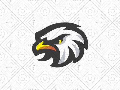 Team Eagle Logo for sale branding focused serious furious hawk falcon bird games videogames logo gamer gaming head character mascot sports team esports eagle