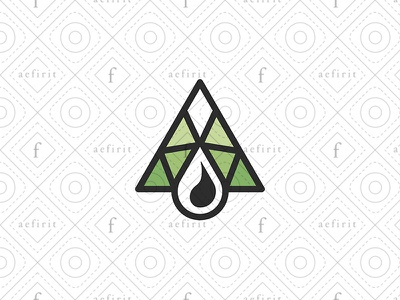 Oil Industry Logo for sale branding simple geometry line natural resources petroleum summit ecological eco logo ecology drop industry structure nature aaa mountain oil