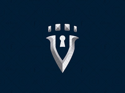 Security Fort Logo fort security for sale branding strong surveillance insurance locksmith letter crown fortress fortification logo castle stronghold tower vvv key keyhole shield