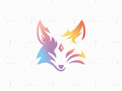 The Fox of Wisdom Logo gaming mystical branding animal head face knowledge wise indian sport logo esports third eye chakra ajna bindi spiritual wisdom fox for sale