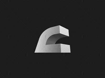 Modern Letter C Logo for sale geometry branding perspective simple minimalist elegant piece building logo 3d architecture abstract construction realty real estate modern letter c