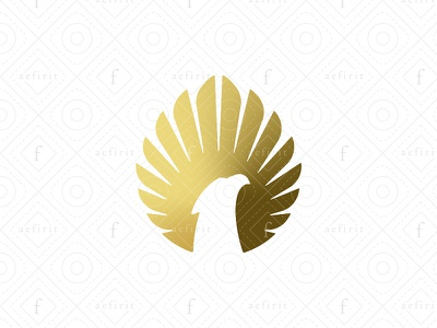 Radiant Eagle Logo for sale branding solar glowing bright symmetric drop wings security guardian logo elegant circle simple modern shiny sun rays sun eagle radiant