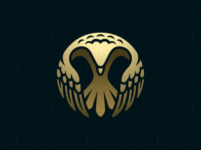 Eagle Embrace Logo for sale branding spherical awakening core insurance security attorney legal real estate protector logo realty law justice guardian embrace hawk falcon eagle