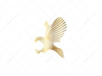 Golden Line Eagle Logo