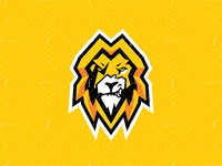 War lion logo - Electric version