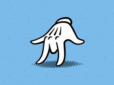 Magic Glove Letter M Logo