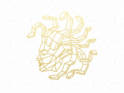 Geometric Medusa Logo