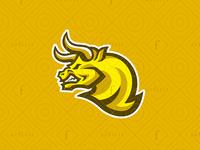 Golden Bull Gaming Logo toro beast for sale branding battle head creative fortune wild powerful logo gamer furious team esports sport mascot gaming golden bull
