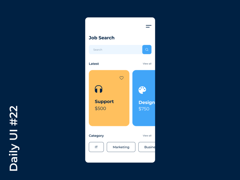 Job Search App | Daily UI #22