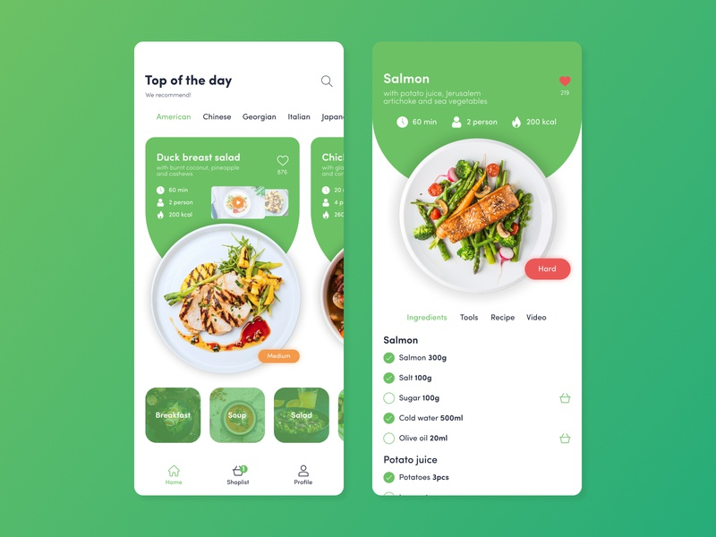 Recipes App | Daily UI #03