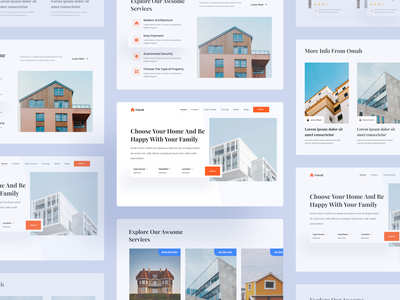 Real Estate Landing Page landing page website house property real estate typography web design design clean ux ui design ui