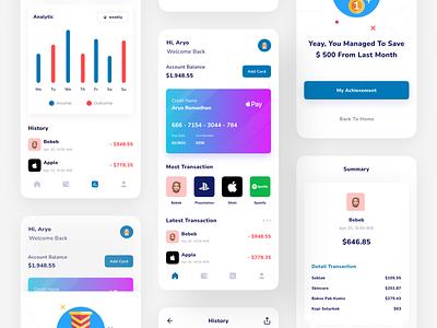 Finance App wallet ui wallet financial finance mobile mobile app mobile design ui design ui design clean