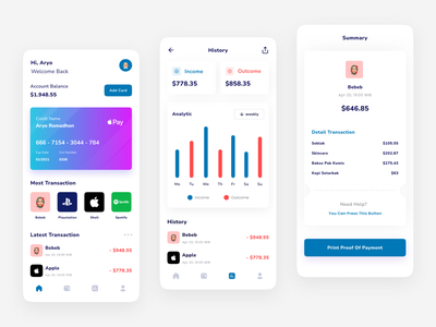 Finance App wallet ui wallet financial finance mobile mobile app mobile design ui design ui design clean