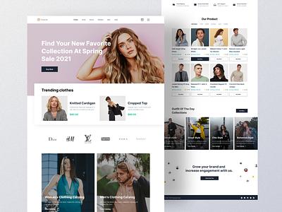 Foray.Inc - Fashion Marketplace Website store e commerce shop marketplace fashion landing page website web design ui design ui design clean
