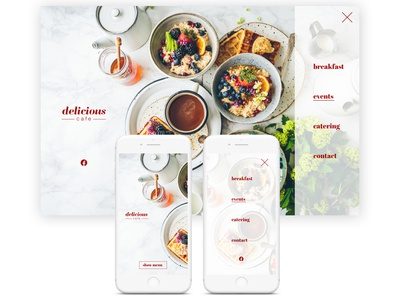 delicious UI /UX web design
