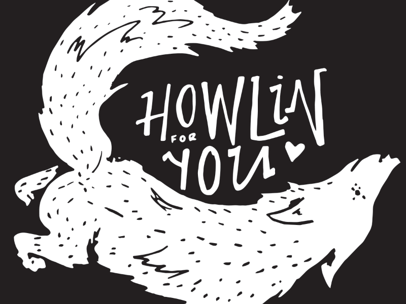//9 4 illustration wolf the black keys howl howlin halloween spooky