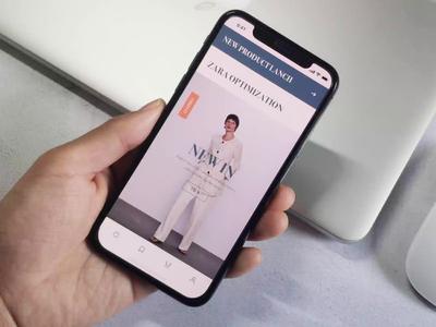 Zara app-animation electricity clothes shop clothes zara animation mobile app ux ui design
