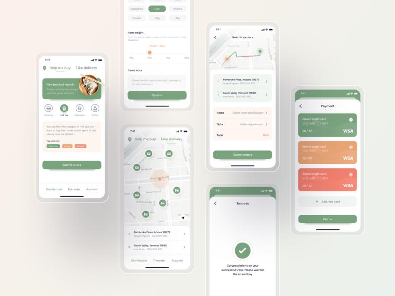 Distribution app-process distribution process flow process mobile design mobile ui mobile icon app ux ui design
