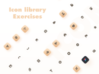 ICON yellow icon design icon set exercise icon library mobile design mobile icon app ux design