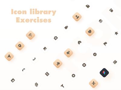ICON yellow icon design icon set exercise icon library mobile design mobile icon app ux design