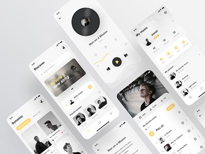 Music App music application music app design music app ui music app typography icon vector logo design branding app ux ui