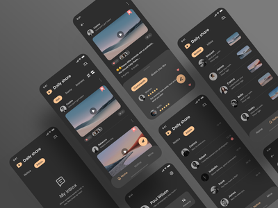 Short video app dark theme dark mode dark app dark ui short video video game video mobile design mobile ui mobile icon design app ux ui