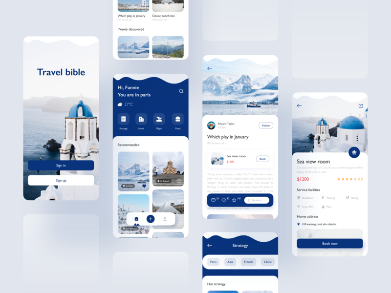 Travel app blue travelling travel mobile design mobile ui mobile icon app ux ui design