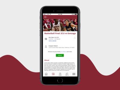 Alumni app UI